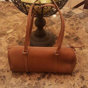Dooney and Bourke Pebble Leather Barrel Bag